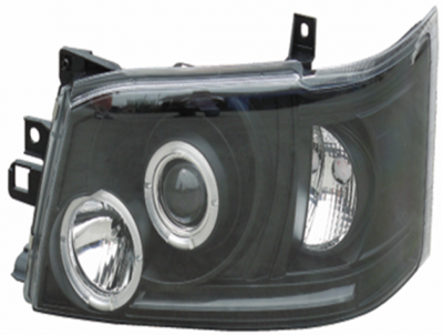 HIACE 05 HEAD LAMP BLACK WITH  LENS